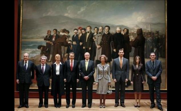 Foto oficial (de la Casa Real) de la inauguración de la ampliación del Museo del Prado